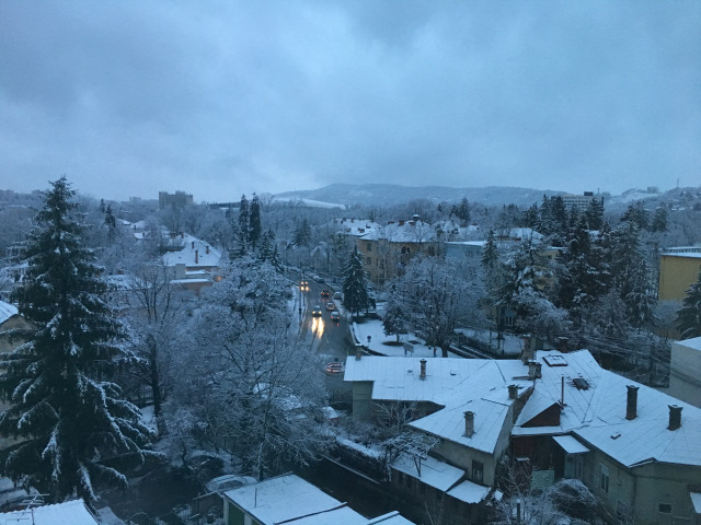 view this morning in Cluj, Romania