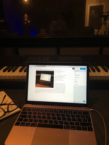 Laptop and Piano
