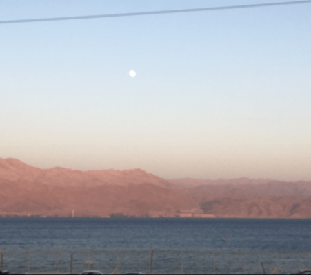 Moon over Eilat, Israel