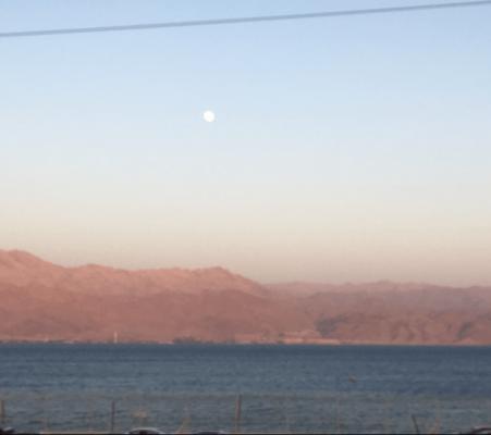 Moon over Eilat, Israel