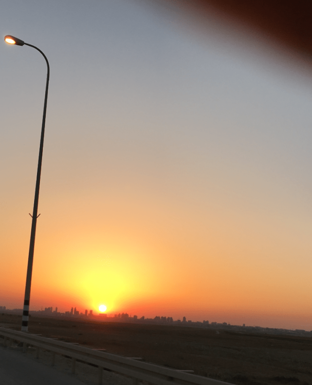 Beautiful sunset over Beer Sheva
