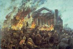 burning temple Tisha B'Av 5778