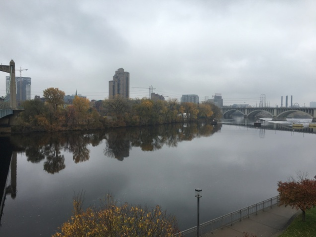 A view of the Mississippi riverfront, downtown Minneapolis.