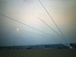 rockets being shot at Israel 1