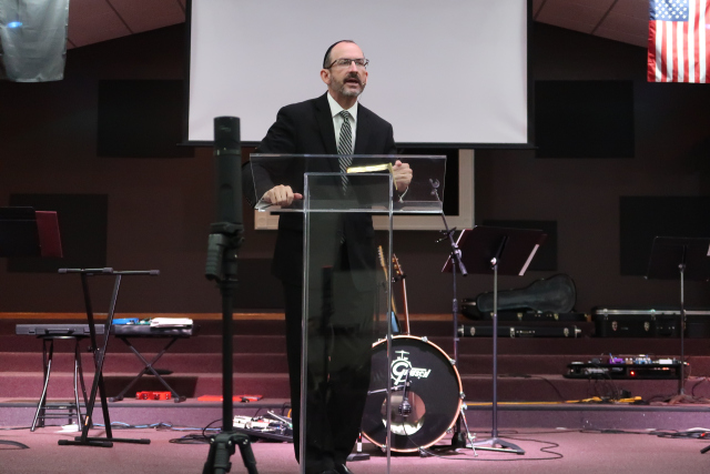 Baruch speaking Wednesday night in Cleveland, TN