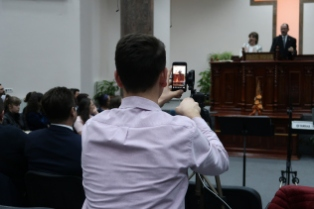 Baruch spoke at the Baptist Church in Sebis 2