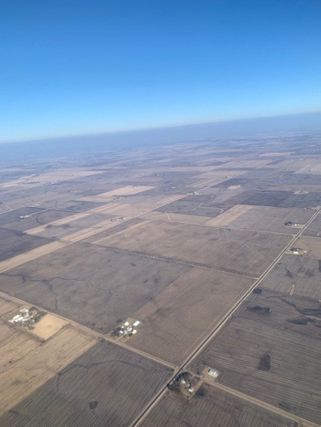 Arial view of the farms of Illinois