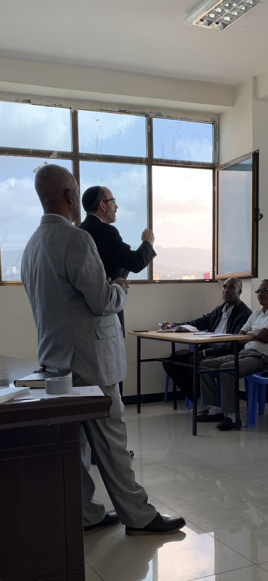 Baruch teaching in Addis Ababa