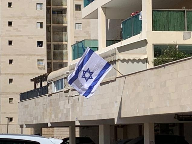 Flag waving in Ashdod, Israel.